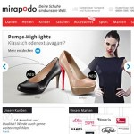 Mirapodo.de Homepage