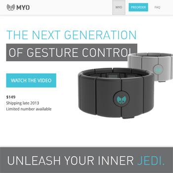 MYO Armband zur Gestensteuerung