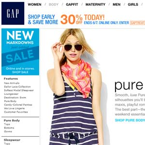 Gap Online-Shop